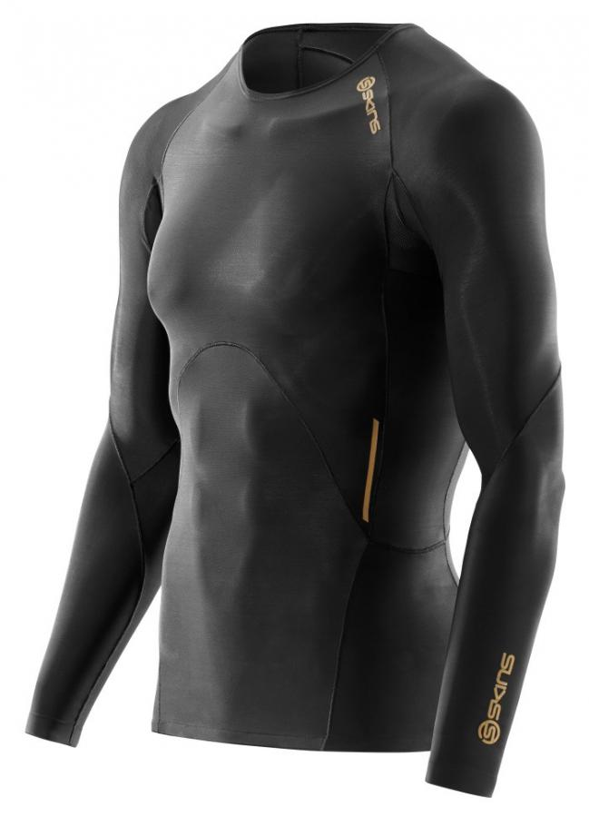 SKINS A400 Compression Long Sleeve Top GOLD