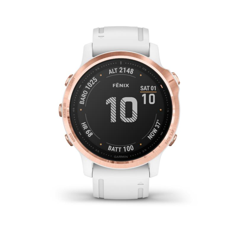 Garmin fénix 6S, PRO, Rose Gold, White band