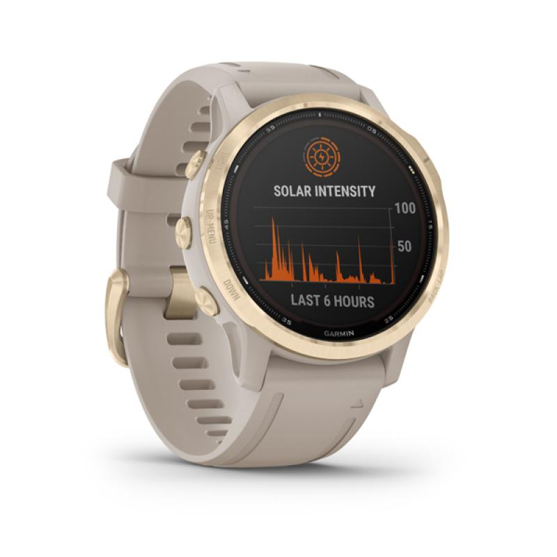 Garmin fenix 6S Pro Solar, Light Gold, Sand Band