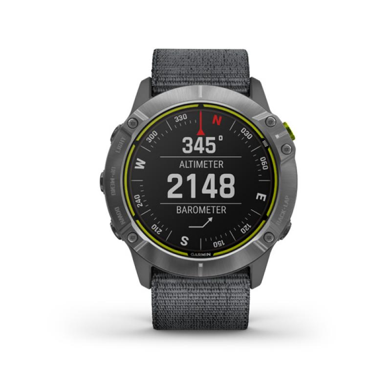 Garmin Enduro, Steel, Grey UltraFit Nylon strap