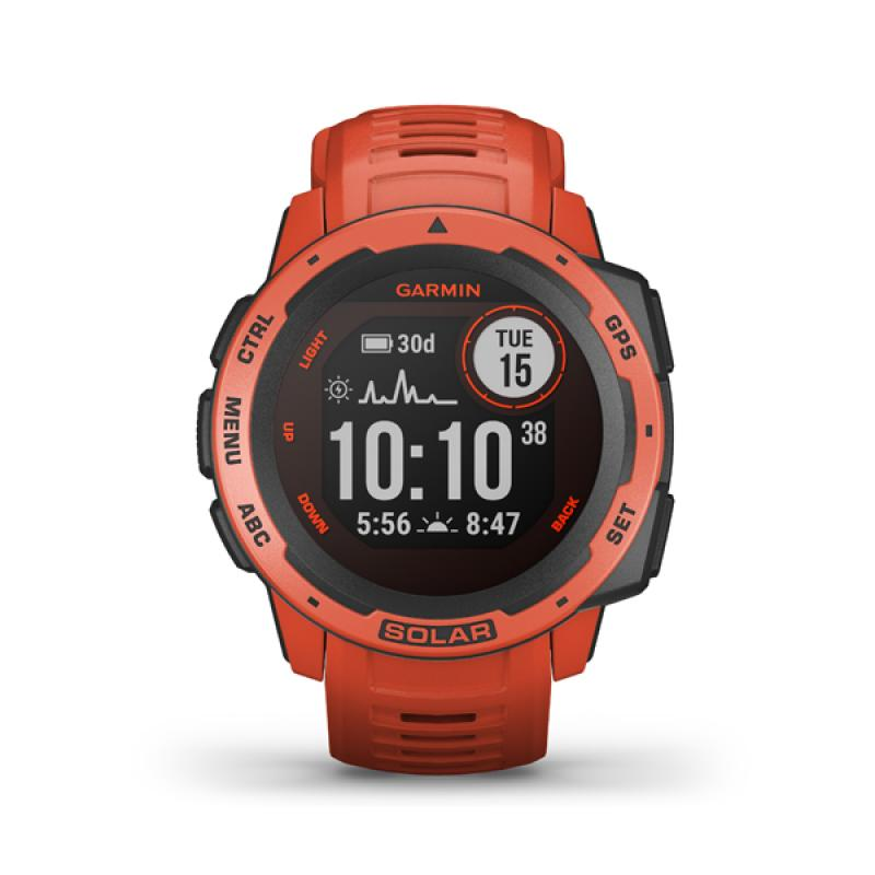 Garmin Instinct Solar, Flame Red