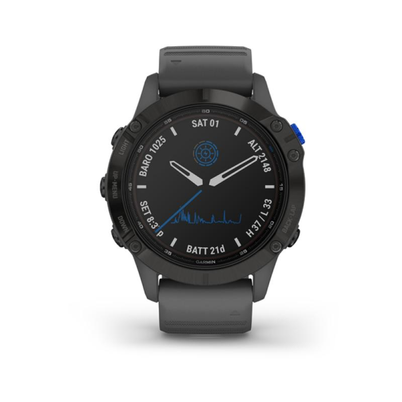 Garmin fenix 6 Pro Solar, Black, Slate Gray Band
