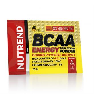 Nutrend BCAA ENERGY MEGA STRONG POWDER 20x12,5g
