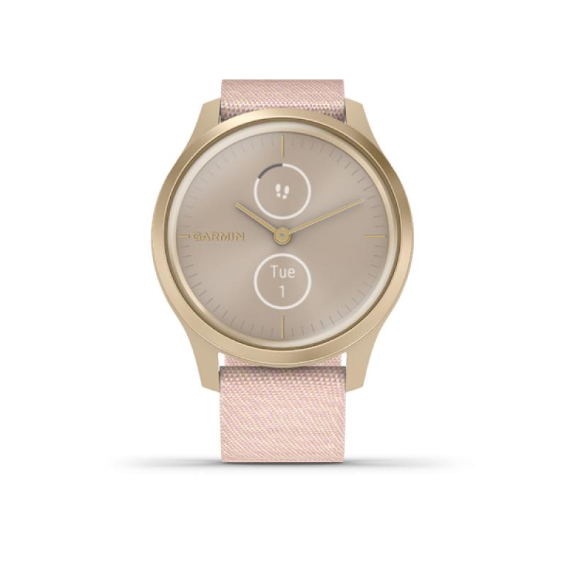 Garmin vivomove Style, Light Gold-Blush Pink, Nylon